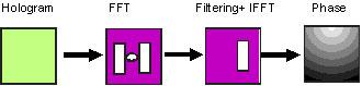 Bild 2: Auswertung eines digitalen Hologramms