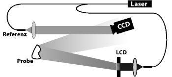 b) Aufnahme des Vergleich-Hologramms